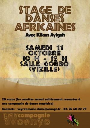 stage de danse africaine vizille